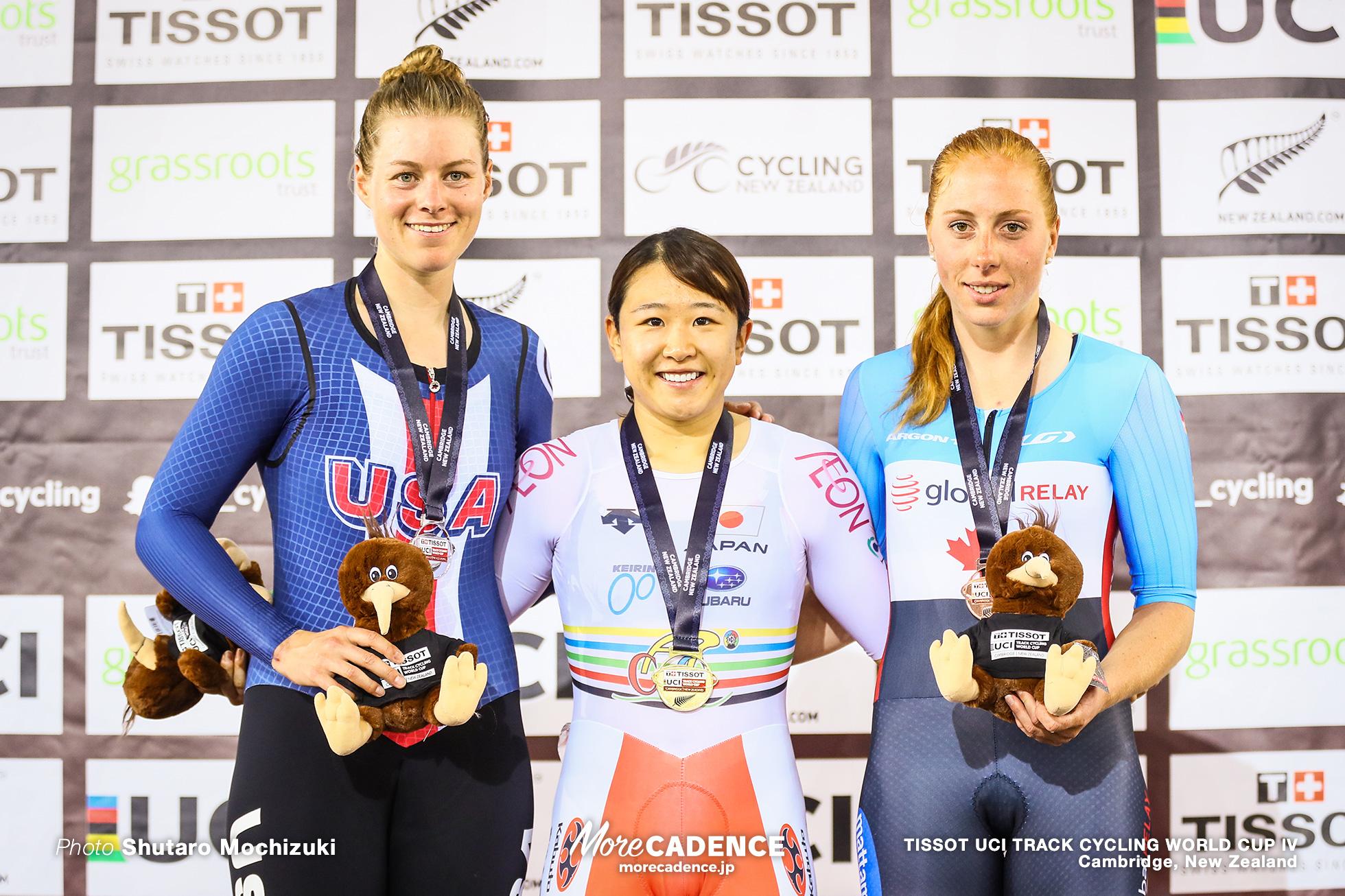 Point Race / Women's Omnium / TISSOT UCI TRACK CYCLING WORLD CUP IV, Cambridge, New Zealand, 梶原悠未 Jennife VALENTE ジェニファー・バレンテ Allison BEVERIDGE アリソン・ベバレッジ