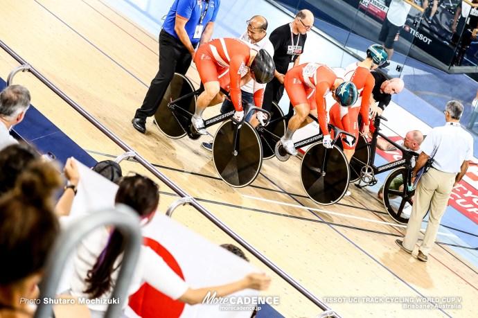 Qualifying / Men's Team Sprint / TISSOT UCI TRACK CYCLING WORLD CUP V, Brisbane, Australia, 新田祐大 長迫吉拓 深谷知広