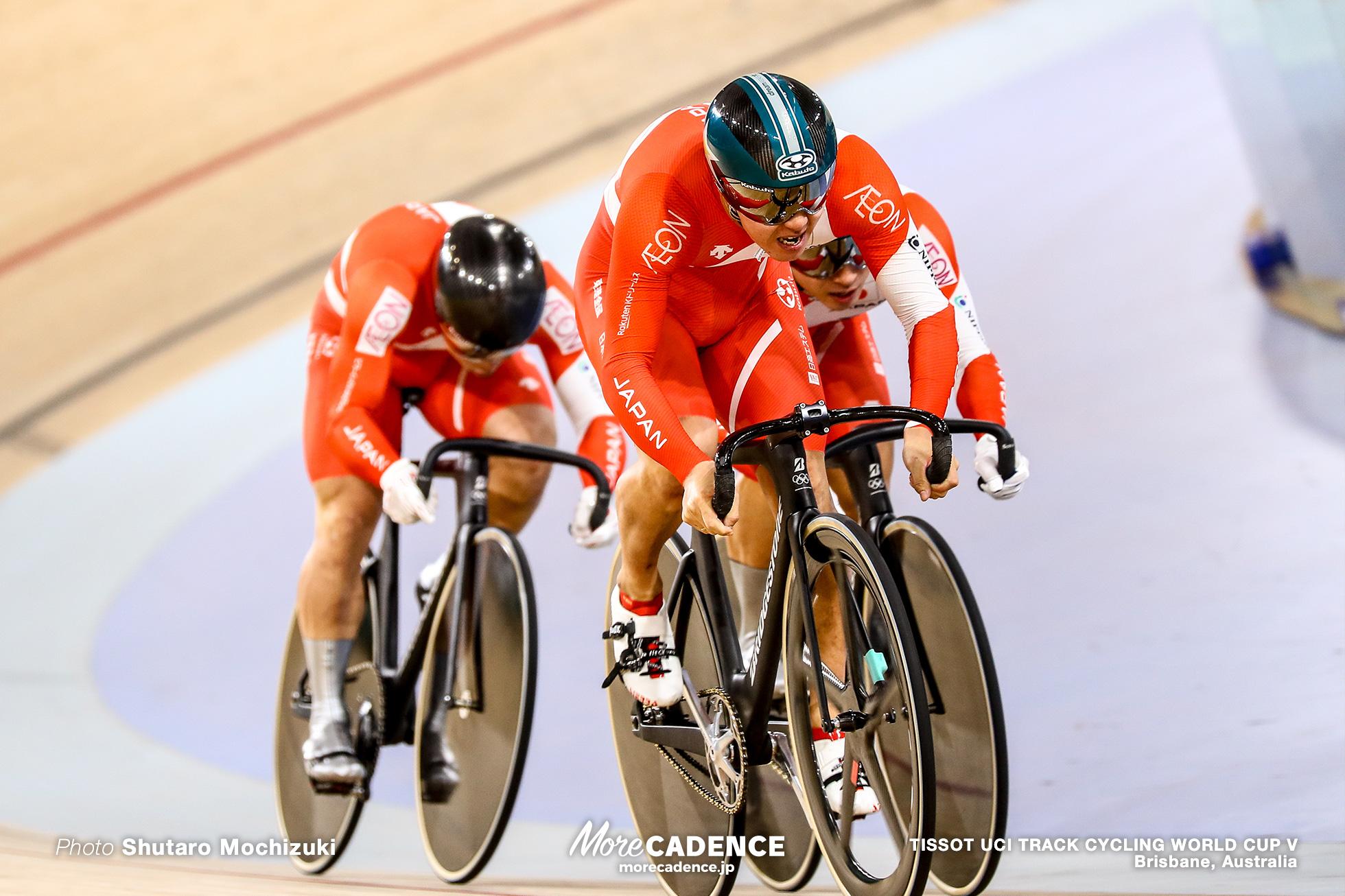 Qualifying / Men's Team Sprint / TISSOT UCI TRACK CYCLING WORLD CUP V, Brisbane, Australia