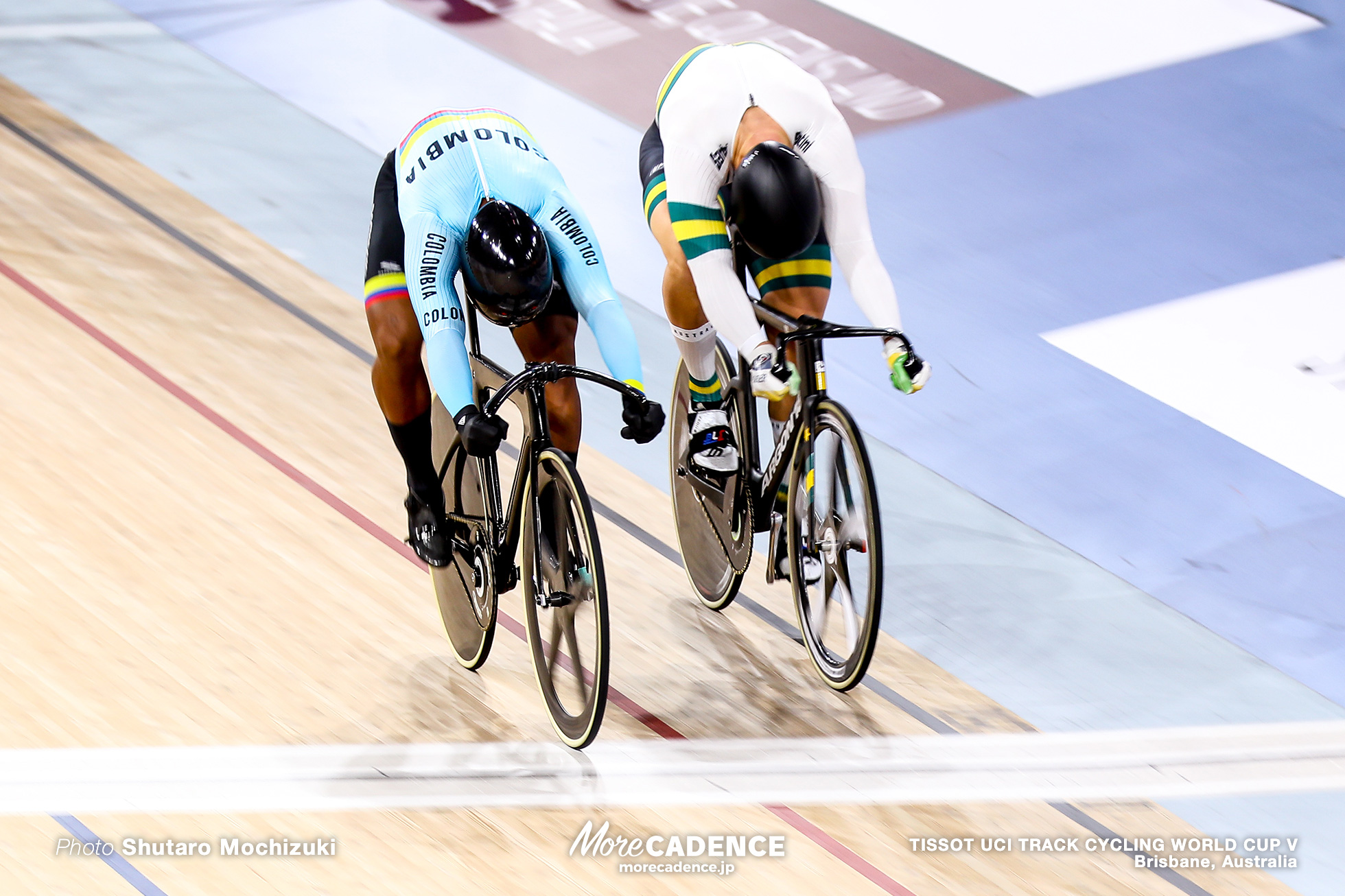 Final / Men's Keirin / TISSOT UCI TRACK CYCLING WORLD CUP V, Brisbane, Australia, Matthew GLAETZER マシュー・グレーツァー Kevin Santiago QUINTERO CHAVARRO ケビン・キンテロ