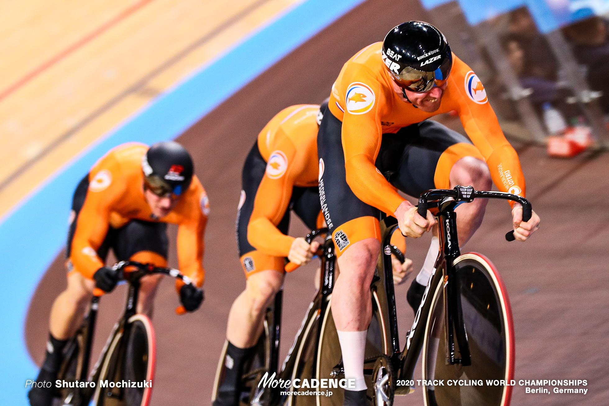 1st Round / Men's Team Sprint / 2020 Track Cycling World Championships, ロイ・バンデンバーグ Roy van den Berg, ハリー・ラブレイセン Harrie Lavreysen, ジェフリー・ホーフラント Jeffrey Hoogland