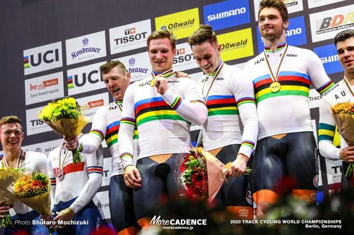 Final / Men's Team Sprint / 2020 Track Cycling World Championships, ロイ・バンデンバーグ Roy van den Berg, ハリー・ラブレイセン Harrie Lavreysen, ジェフリー・ホーフラント Jeffrey Hoogland, マティエス・ブフリ Matthijs Buchli