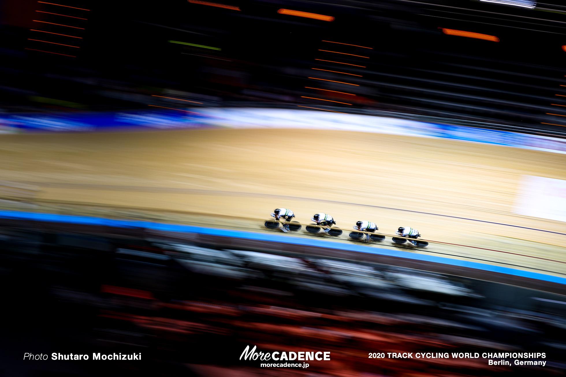 Final / Men's Team Pursuit / 2020 Track Cycling World Championships / Australia オーストラリア/ Leihg Howard レイ・ハワード, Lucas Plapp ルーカス・プラップ, Alexander Porter アレクサンダー・ポーター, Sam Welsford サム・ウェルスフォード
