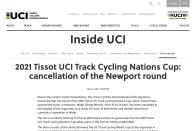 開催中止が決定、UCIネイションズカップ初戦イギリス大会