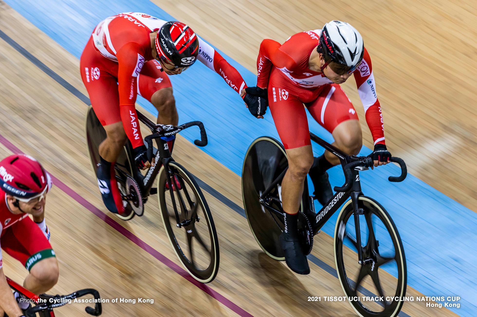橋本英也/Eiya Hashimoto & 今村駿介/Shunsuke ImamuraMen's Madison, TISSOT UCI TRACK CYCLING NATIONS CUP - HONG KONG