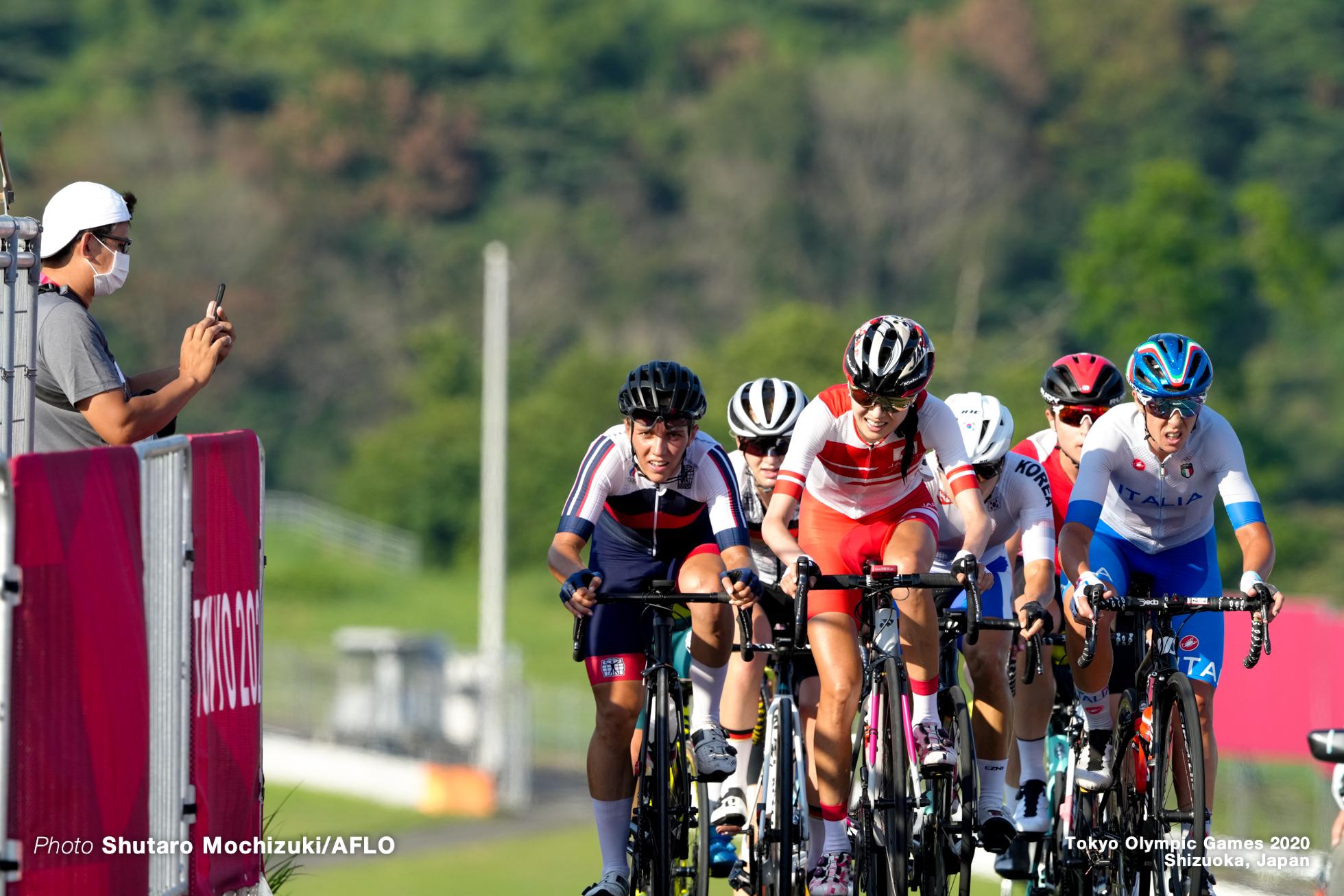 金子広美/Hiromi Kaneko (JPN), JULY 25, 2021 - Cycling : Women's Road Race during the Tokyo 2020 Olympic Games at the Fuji International Speedway in Shizuoka, Japan. (Photo by Shutaro Mochizuki/AFLO)