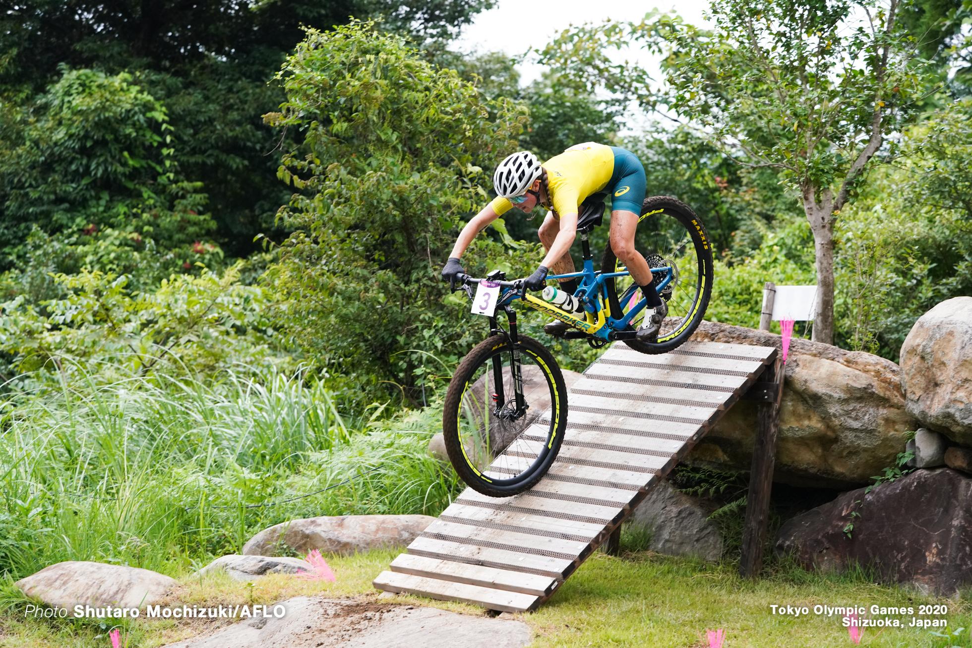レベッカ・マッコネル Rebecca McConnell (AUS), JULY 27, 2021 - Cycling : Women's Cross-country during the Tokyo 2020 Olympic Games at the Izu MTB Course in Shizuoka, Japan. (Photo by Shutaro Mochizuki/AFLO)