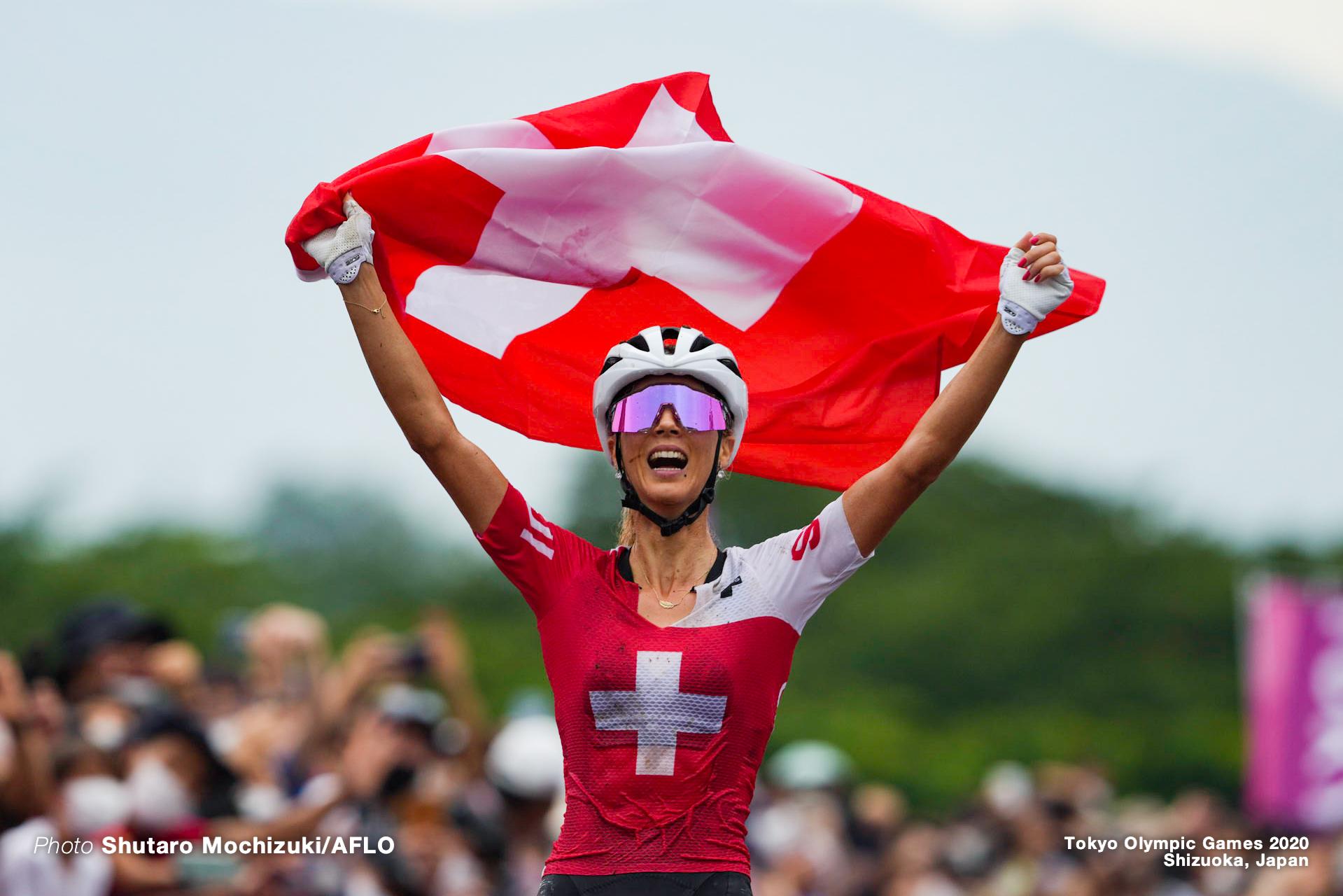 ヨランダ・ネフ Jolanda Neff (SUI), JULY 27, 2021 - Cycling : Women's Cross-country during the Tokyo 2020 Olympic Games at the Izu MTB Course in Shizuoka, Japan. (Photo by Shutaro Mochizuki/AFLO)