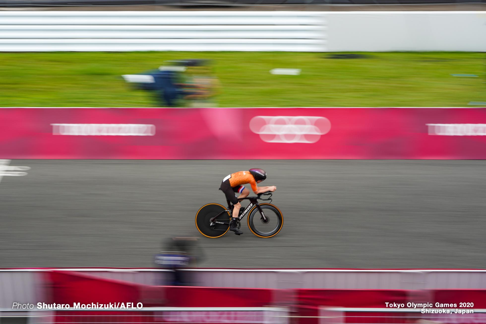 アンネミク・ファンフルテン Annemiek van Vleuten (NED), JULY 28, 2021 - Cycling : Women's Individual Time Trial during the Tokyo 2020 Olympic Games at the Izu MTB Course in Shizuoka, Japan. (Photo by Shutaro Mochizuki/AFLO)