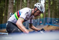 NOVE MESTO NA MORAVE, CZECH REPUBLIC - MAY 16: Jordan Sarrou of France during the Mercedes-Benz UCI Mountain Bike World Cup - Men Elite on May 16, 2021 in Nove Mesto na Morave, Czech Republic (Photo by (Photo by Svoboda Jaroslav/BSR Agency/Getty Image)