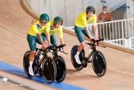 ケランド・オブライエン Kelland O'brien (AUS), レイ・ハワード Leigh Howard (AUS), ルーカス・プラップ Lucas Plapp (AUS), Men's Team Pursuit Final for BronzeAUGUST 4, 2021 - Cycling : during the Tokyo 2020 Olympic Games at the Izu Velodrome in Shizuoka, Japan. (Photo by Shutaro Mochizuki/AFLO)