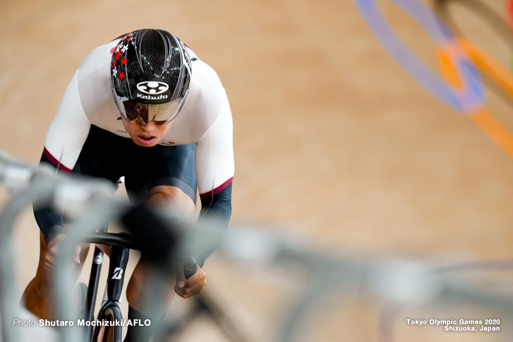 脇本雄太 Yuta Wakimoto (JPN), Men's Sprint Qualifying AUGUST 4, 2021 - Cycling : during the Tokyo 2020 Olympic Games at the Izu Velodrome in Shizuoka, Japan. (Photo by Shutaro Mochizuki/AFLO)
