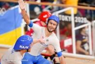 フィリポ・ガンナ Filippo Ganna (ITA), Men's Team Pursuit Final AUGUST 4, 2021 - Cycling : during the Tokyo 2020 Olympic Games at the Izu Velodrome in Shizuoka, Japan. (Photo by Shutaro Mochizuki/AFLO)