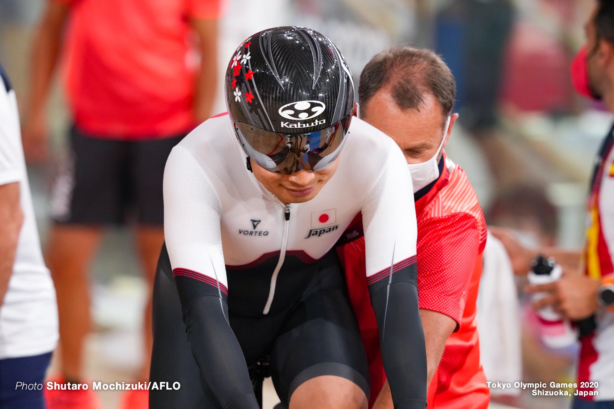 橋本英也 Eiya Hashimoto (JPN), Men's Omnium Scratch Race 1/4 AUGUST 5, 2021 - Cycling : during the Tokyo 2020 Olympic Games at the Izu Velodrome in Shizuoka, Japan. (Photo by Shutaro Mochizuki/AFLO)