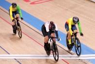 ミグレ・マロザイテ Migle Marozaite (LTU), 小林優香 Yuka Kobayashi (JPN), シモーナ・クルペツカイテ Simona Krupeckaite (LTU), Women's Sprint 1/32 Finals Repechages AUGUST 6, 2021 - Cycling : during the Tokyo 2020 Olympic Games at the Izu Velodrome in Shizuoka, Japan. (Photo by Shutaro Mochizuki/AFLO)