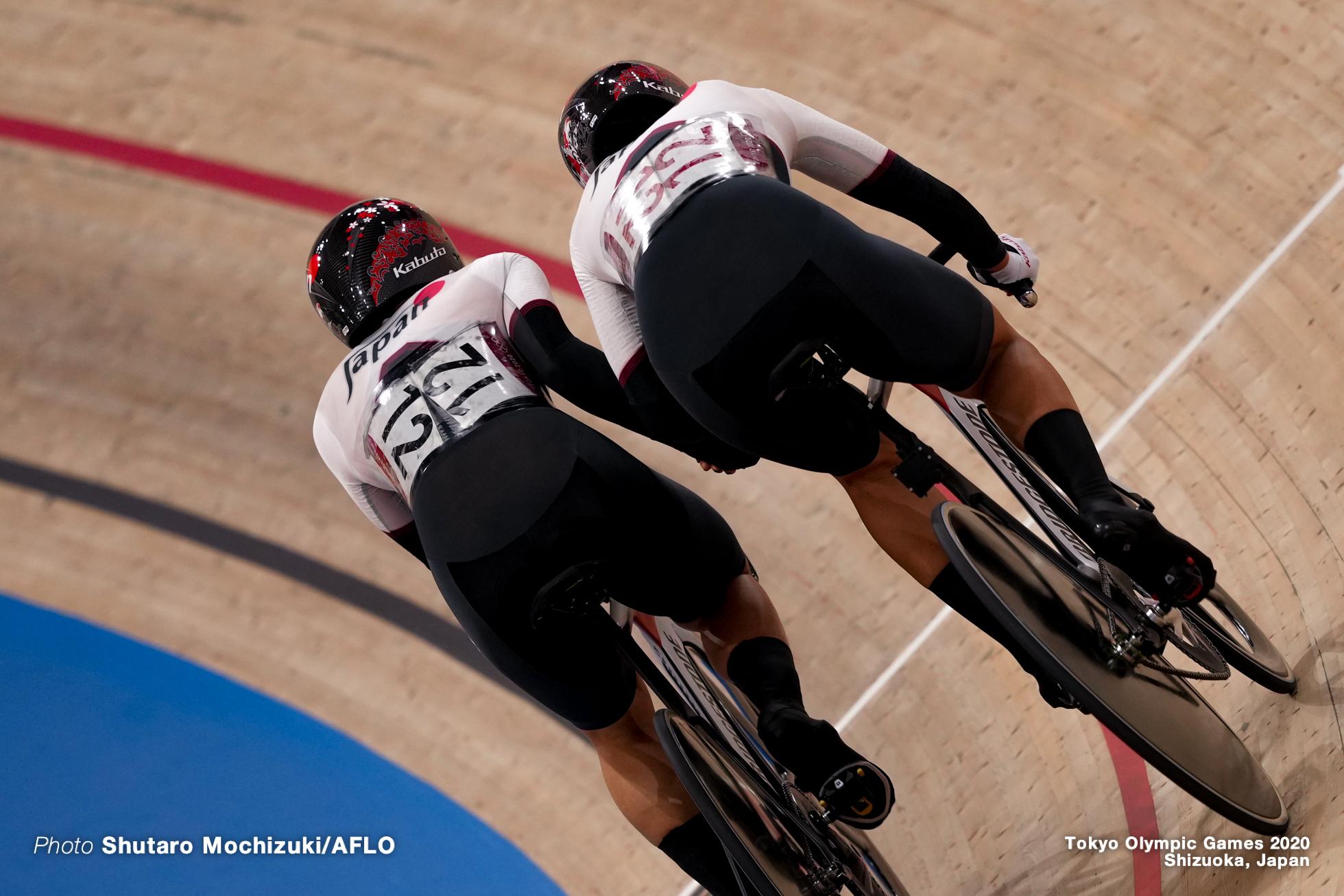 梶原悠未 Yumi Kajihara (JPN), 中村妃智 Kisato Nakamura (JPN), Women's Madison AUGUST 6, 2021 - Cycling : during the Tokyo 2020 Olympic Games at the Izu Velodrome in Shizuoka, Japan. (Photo by Shutaro Mochizuki/AFLO)
