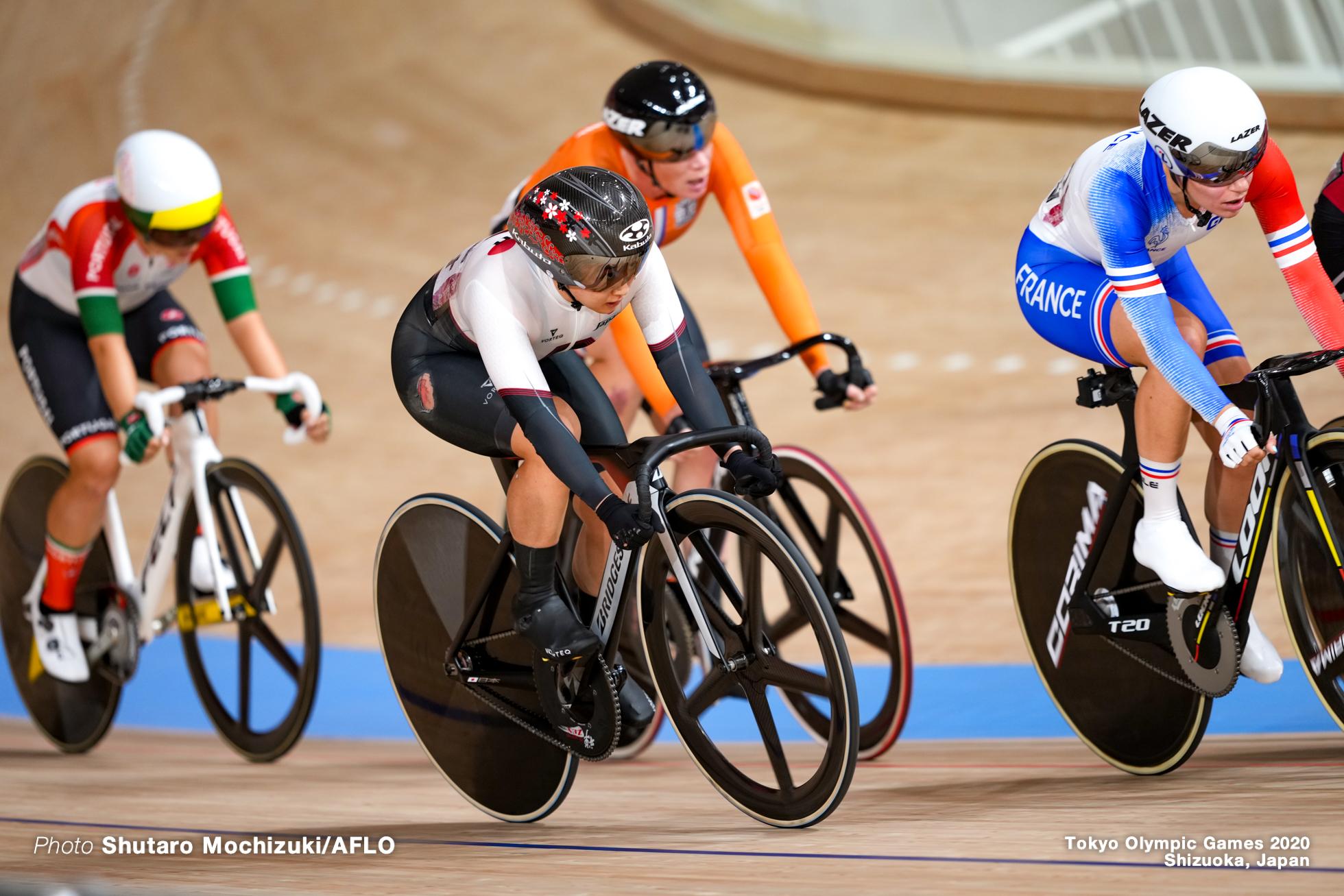 Women's Omnium Points Race 4/4 梶原悠未 Yumi Kajihara (JPN), AUGUST 8, 2021 - Cycling : during the Tokyo 2020 Olympic Games at the Izu Velodrome in Shizuoka, Japan. (Photo by Shutaro Mochizuki/AFLO)