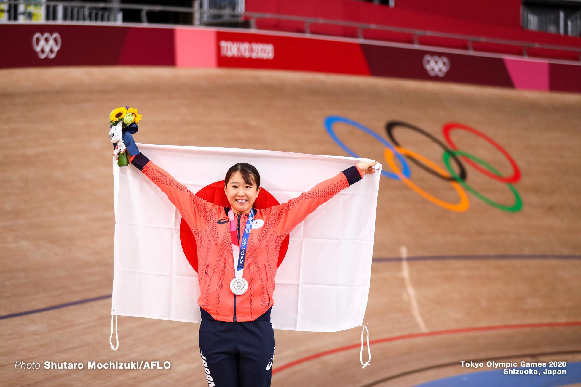 梶原悠未 Yumi Kajihara (JPN), Women's Omnium AUGUST 8, 2021 - Cycling : during the Tokyo 2020 Olympic Games at the Izu Velodrome in Shizuoka, Japan. (Photo by Shutaro Mochizuki/AFLO)