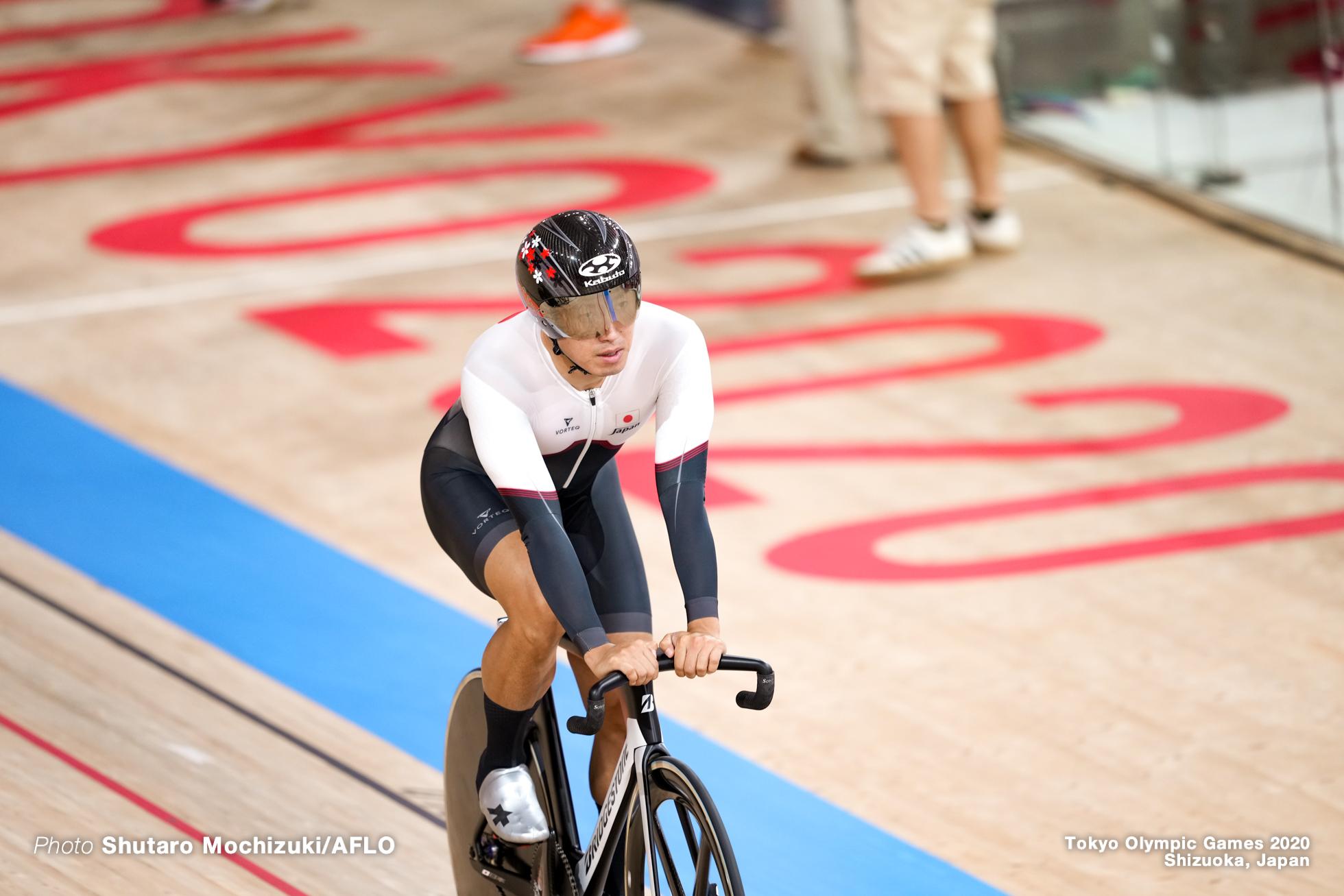 脇本雄太 Yuta Wakimoto (JPN), Men's Keirin Semi-Final AUGUST 8, 2021 - Cycling : during the Tokyo 2020 Olympic Games at the Izu Velodrome in Shizuoka, Japan. (Photo by Shutaro Mochizuki/AFLO)