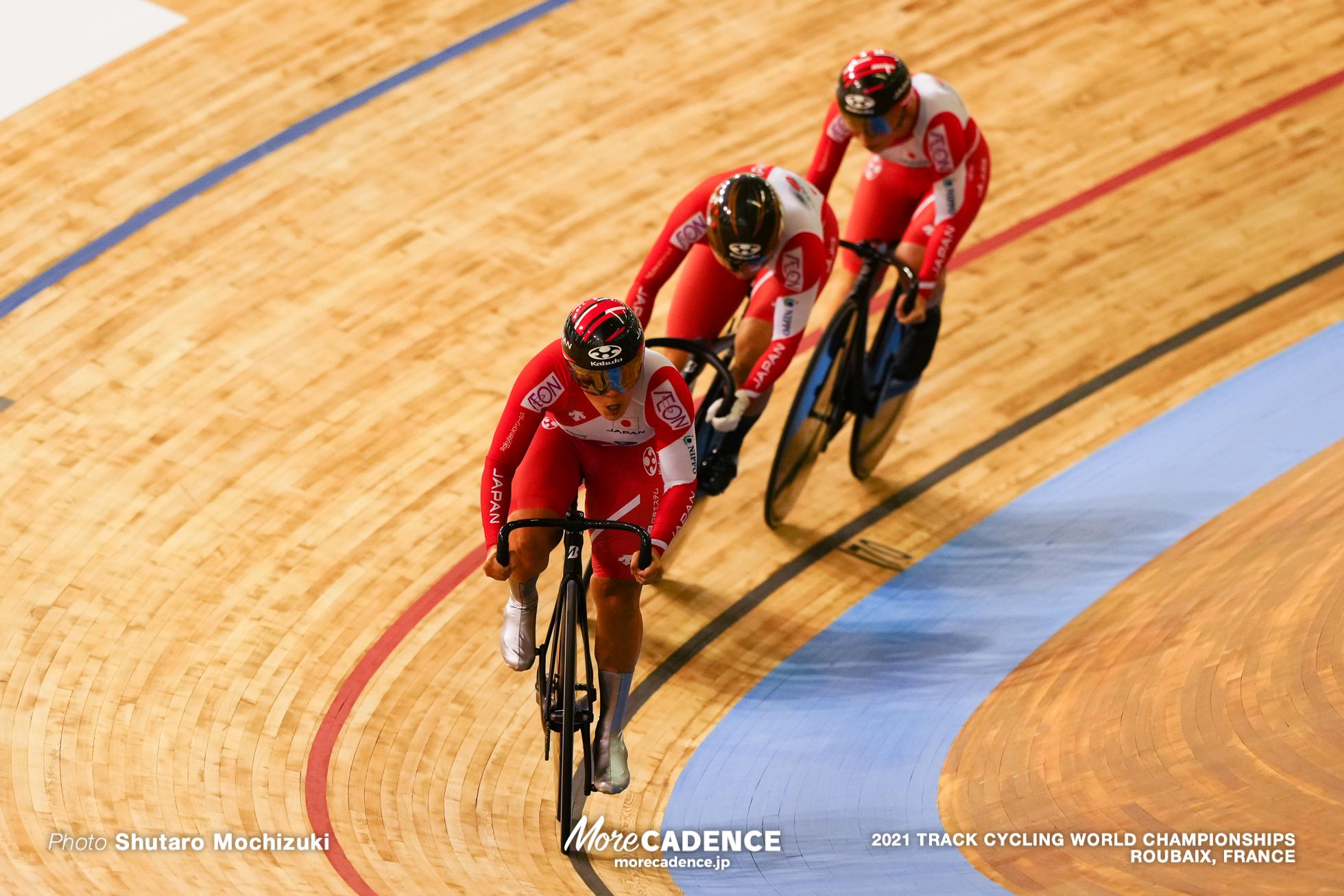 梅川風子 太田りゆ 佐藤水菜 Women's Team Sprint Qualifying / 2021 Track Cycling World Championships, Roubaix,Umekawa Fuko(JPN)梅川風子, Ohta Riyu(JPN)太田りゆ, Sato Mina(JPN)佐藤水菜
