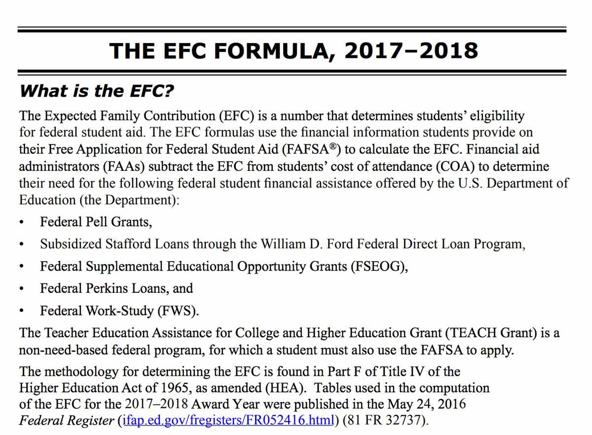 Do You Know Your Efc S