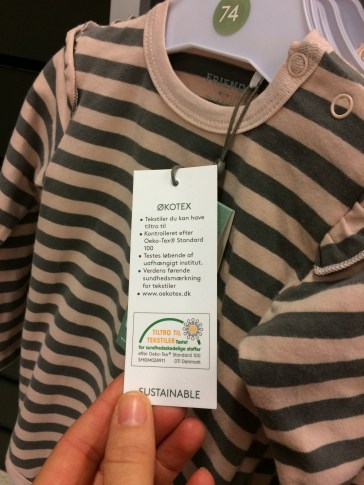 The Oeko Tex label guarantees tested and chemical free textiles. It does not mean organic and does not look at fairtrade or sustainability