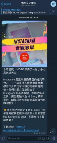 Telegram Promotion of Ebook
