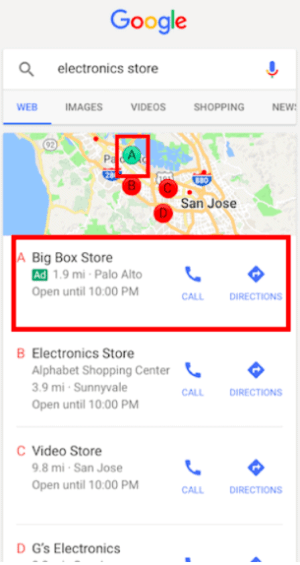 Search Ad Extension on Mobile