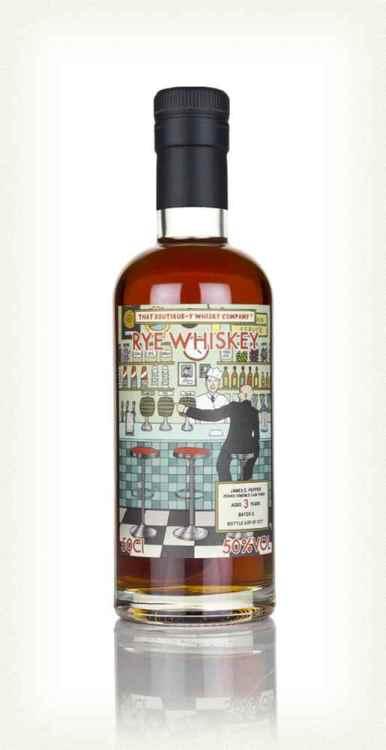 James E. Pepper 3yo batch 2 PX Finish bottle