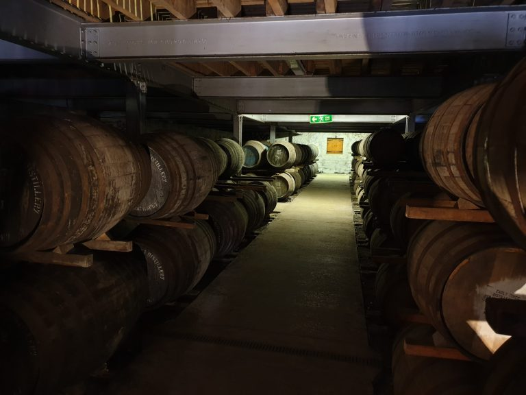 Inside one of Aberlour's dunnage warehouses.