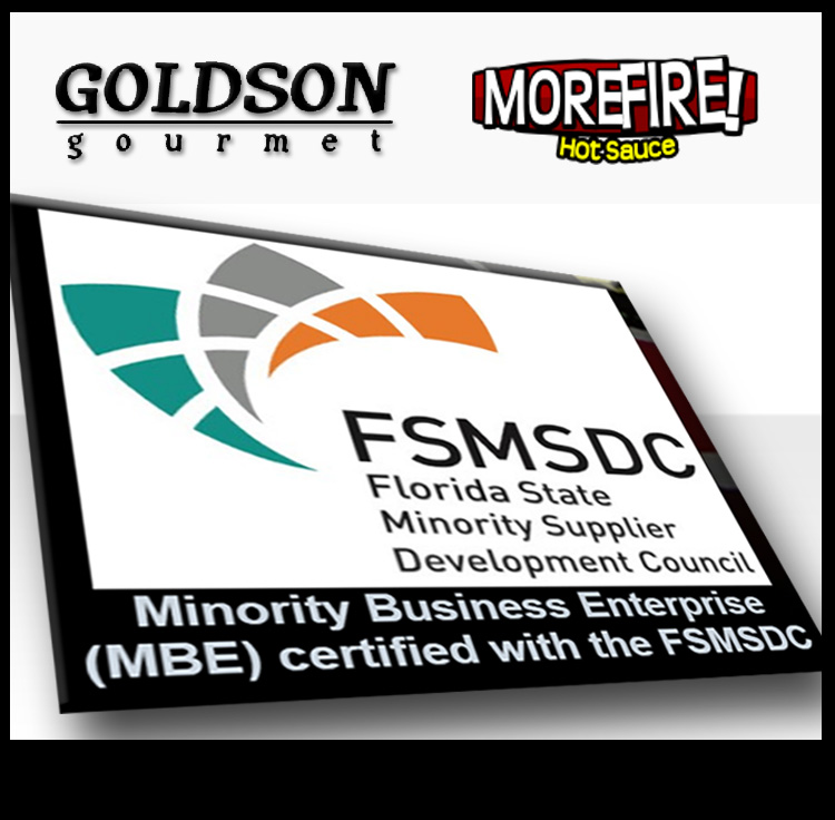 Goldson Gourmet Llc Certified As A Minority Business Enterprise