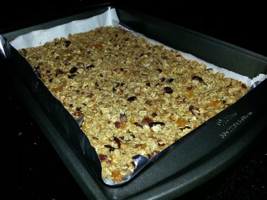 Combine all ingredients and press down evenly into a baking pan.