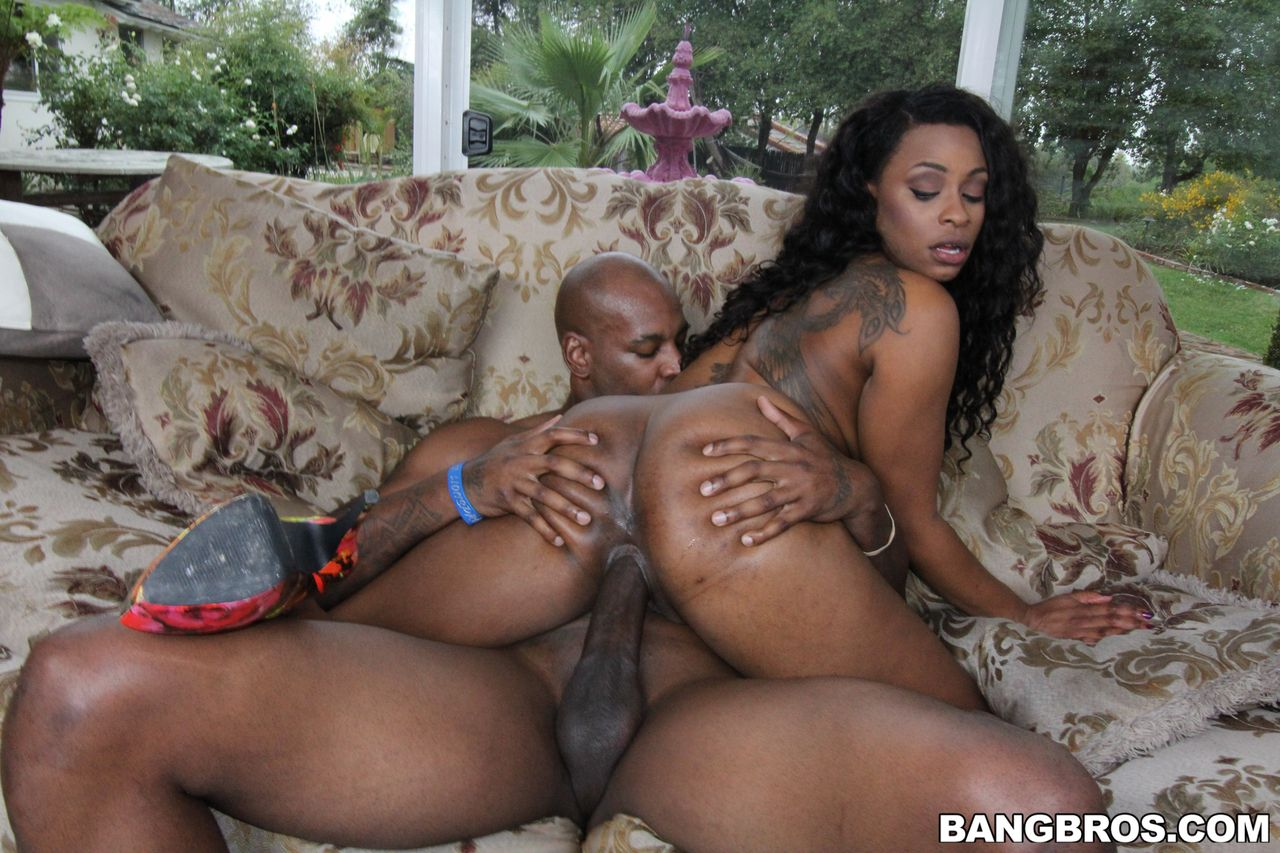 Ebony Shemale Gets Fucked Hard