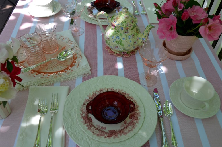 vintage pink tea
