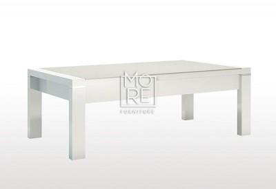 edgewood high gloss coffee table white