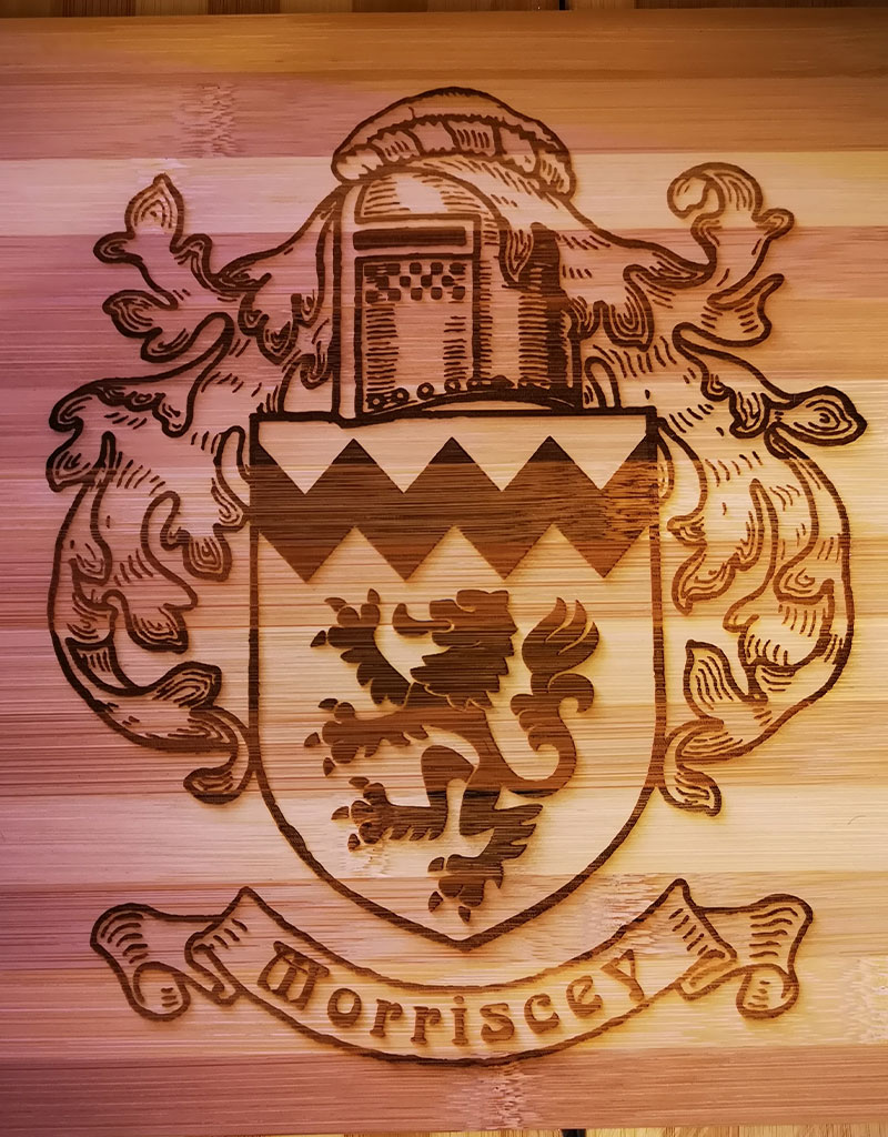 Morriscey FGamily Crest Cutting Board or Sign