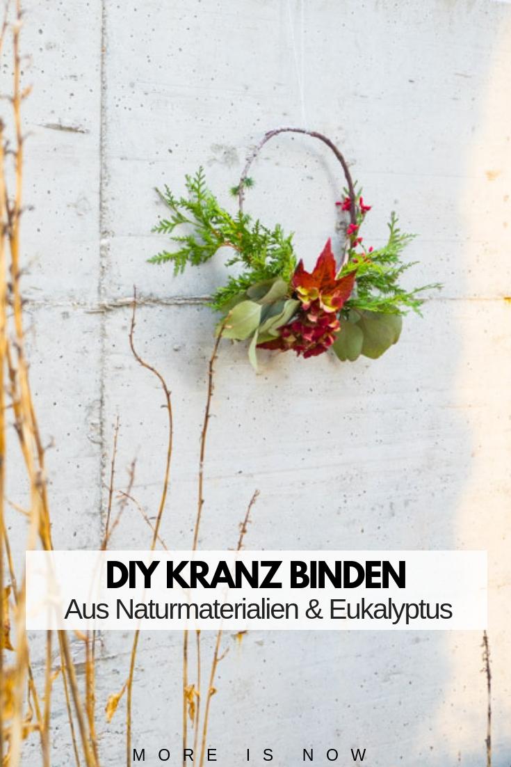 DIY Kranz binden mit Eukalyptus