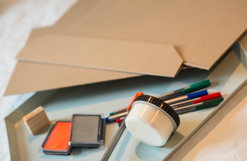 DIY Weihnachtskarten mit Fingerabdruck Materialien