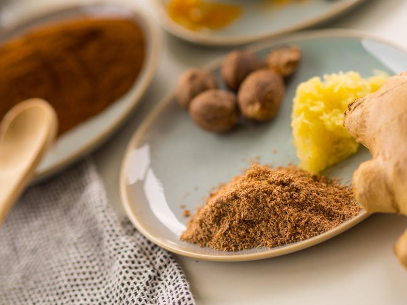 Goldene Milch Paste Gewürze