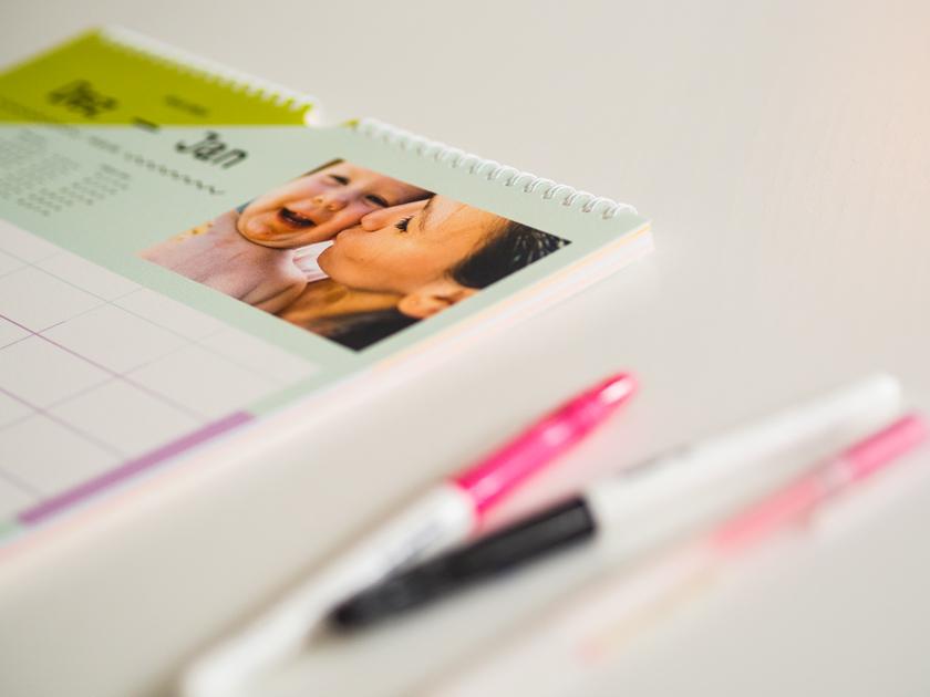 Organisiert ins neue Jahr - Familienplaner & Stifte