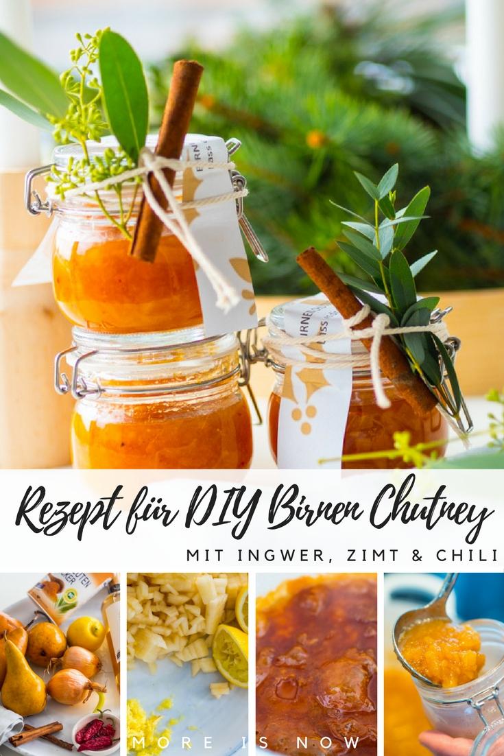 Birnen Chutney mit Ingwer und Zimt