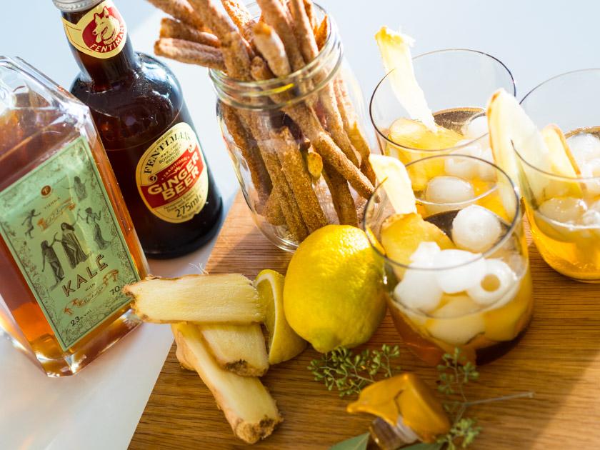 Tipps für Mamas und Kinder_Kale Ginger Beer Cocktail Zutaten