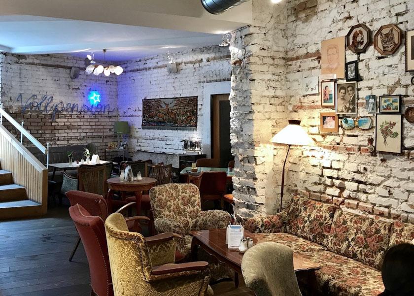 Wien Tipps für Mama und Kind_Vollpension Cafe Innenansicht