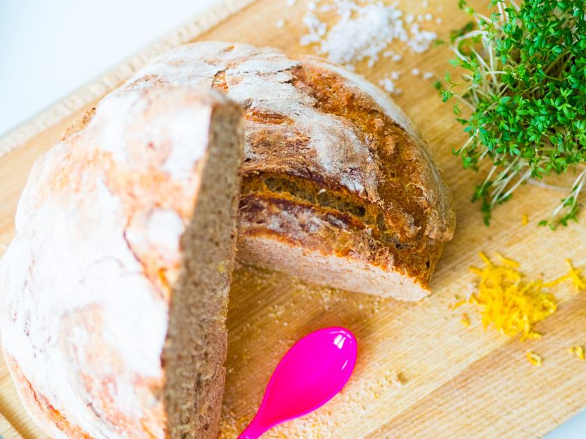Brot ohne Kneten_Brot einfach und schnell
