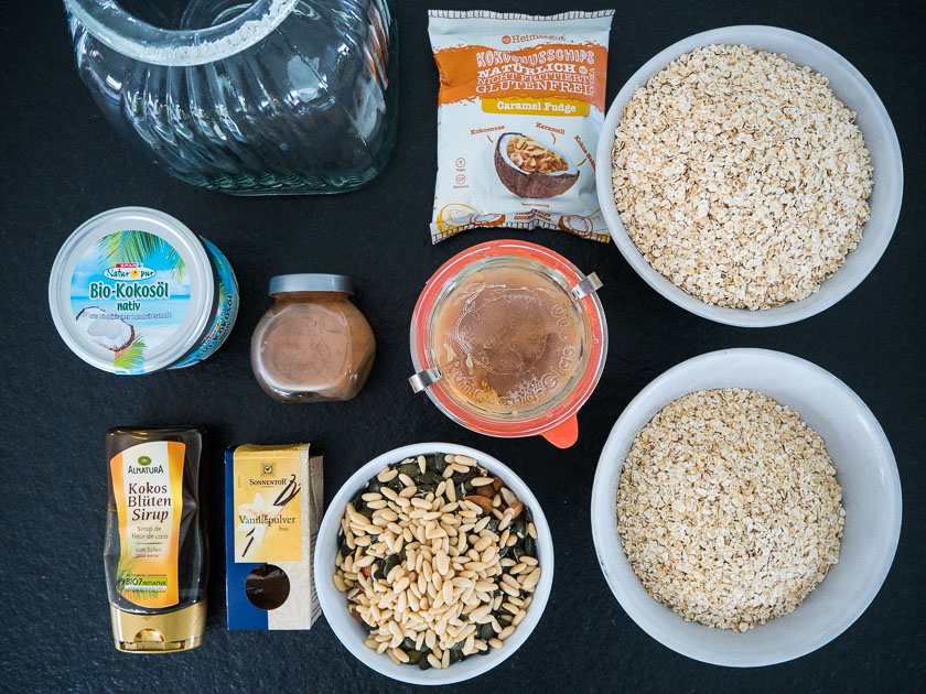 Meal Prep für Familien_Granola Zutaten