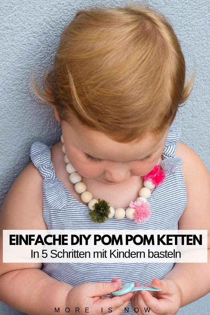 Einfache DIY Pom Pom Ketten