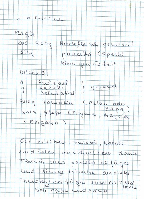 Urlaub am Gardasee mit Kindern_Lasagne Rezept handgeschrieben