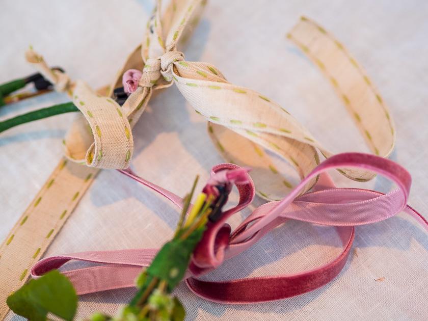 Brunchparty Kindergeburtstag für Mädchen_Blumenhaarkranz Bänder