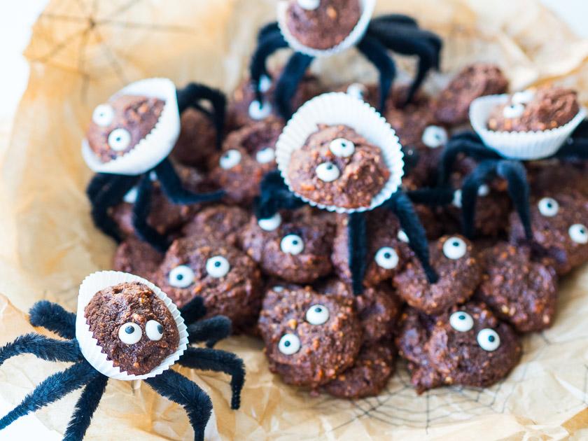 Last Minute Halloween_Spinnen Schoko Cookies