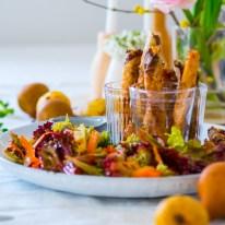 Frühlingsrezept mit Feldsalat_Zigarrenbörek gefüllt mit Vogerlsalat